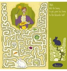 Wizard maze game vector
