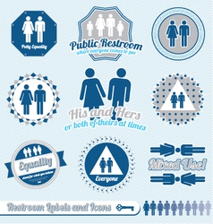 Bathroom restroom labels vector