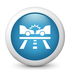 Car Crash Glossy Icon vector image