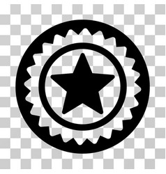 star medal seal icon vector image