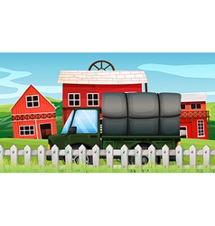 Farm cargo tuck vector