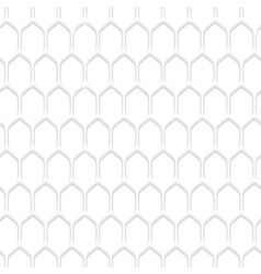 White honeycomb pattern background vector