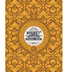 Art-deco whiskey label vector