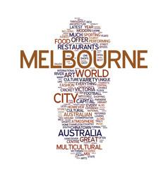 Melbourne the cosmopolitan capital of australia vector