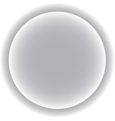circle with a gray shadow three-dimensional vector image