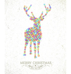 Merry christmas watercolor deer vector