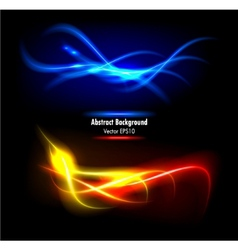 Color abstract glowing background vector