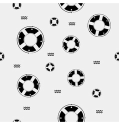 Seamless pattern with lifebuoys can be vector
