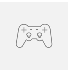 Joystick line icon vector