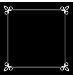 White border vintage frame on black background vector