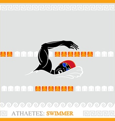 Athlete swimmer vector