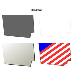 Bradford map icon set vector