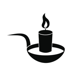 Candle icon black vector
