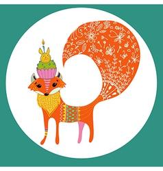 Cartoon color fox vector image vector image