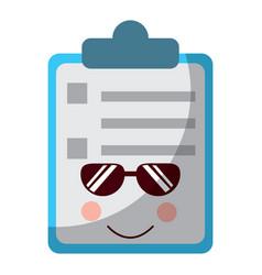 Clipboard kawaii icon image vector