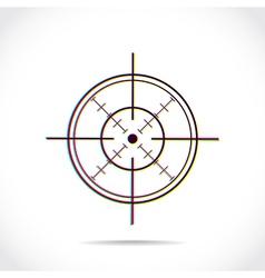 Crosshair symbol vector image
