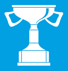 Cup for victory icon white vector