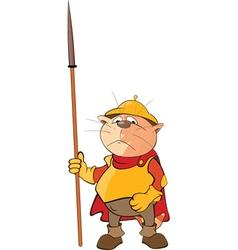 Cute Cat Knight Cartoon vector image vector image
