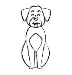 cute dog cartoon vector image vector image