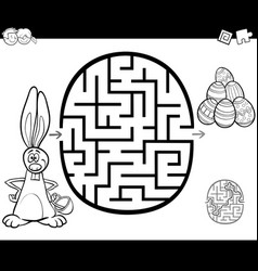 easter maze activity for coloring vector image vector image