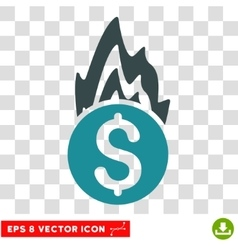 Fire Damage Icon vector image vector image