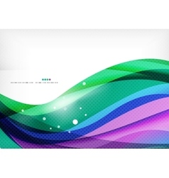 Green blue purple line background vector