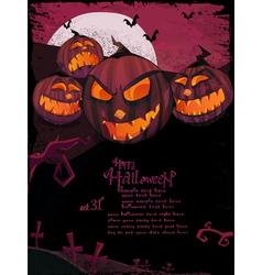 halloween template vector image vector image