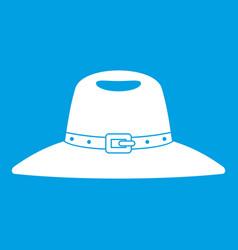 Hat icon white vector