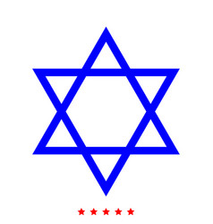 Jewish star of david icon different color vector