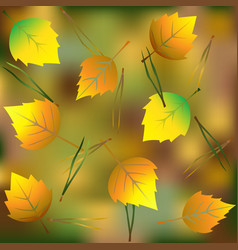 leaves in autumn forest vector image