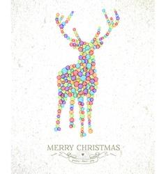 Merry Christmas watercolor deer vector image