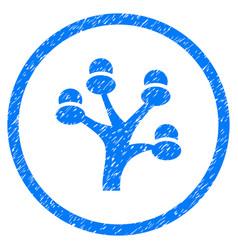 Money tree rounded grainy icon vector
