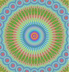 Multicolored abstract mandala ornament background vector