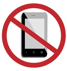 No mobile phone vector