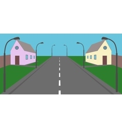 Private houses vector
