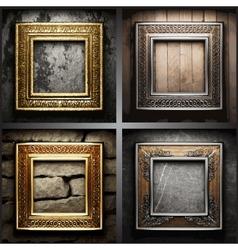 retro frame set vector image
