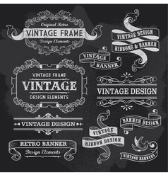 Retro Vintage Banners and Ribbons vector image