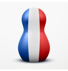 Russian tradition matrioshka dolls in france flag vector