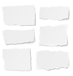 Set of paper different shapes tears isolated vector