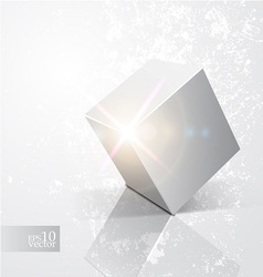 Shiny cube vector image vector image