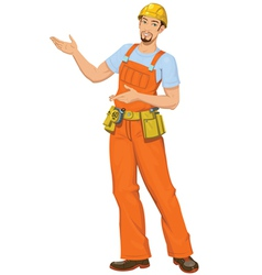 Smiling builder vector