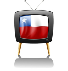 The flag of chile inside the tv vector