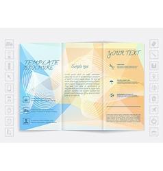 Tri-Fold Brochure mock up design Polygonal vector image
