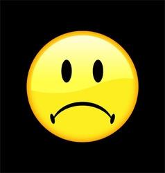 Unhappy Face vector image vector image
