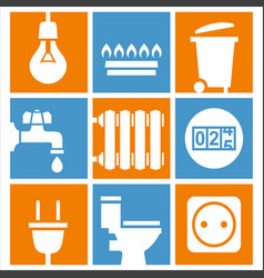 utilities icons set vector image