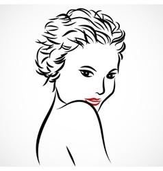 Woman sketch vector image