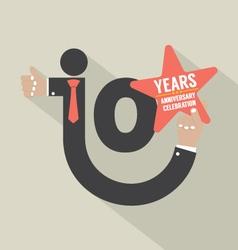 10 years anniversary typography design illu vector