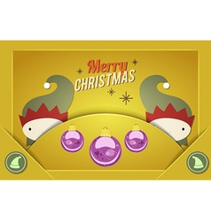 With christmas and christmas decoration vector