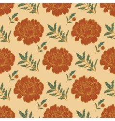 Ornate floral seamless background with flowers vector image