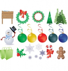 Christmas things vector image